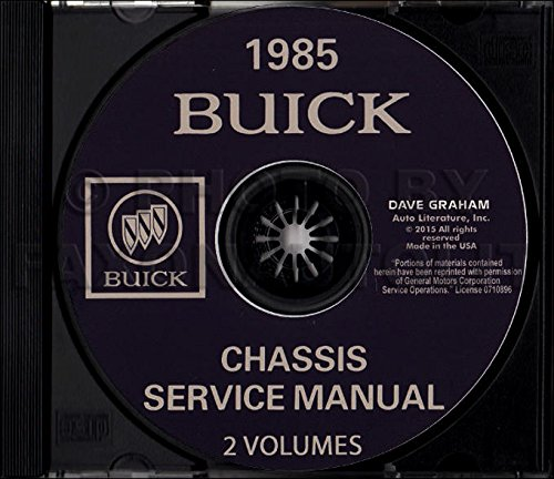 1985 Buick Grand National  Regal Shop Service Repair Manual Engine Drivetrain OE