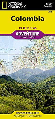 Colombia (National Geographic Adventure Map)