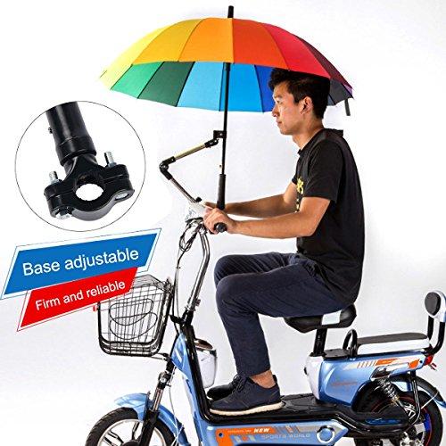 Suerhatcon Adjustable Umbrella Holder Swivel Connector Handlebar Frame Stand for Bike Stroller Wheelchair Baby Chair Pram (Model # 1) by Suerhatcon (Image #2)