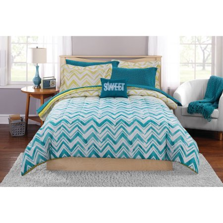 Queen Size Ombre Chevron Bed-In-A-Bag Bedding Set (Bed In A Bag Queen Ombre)