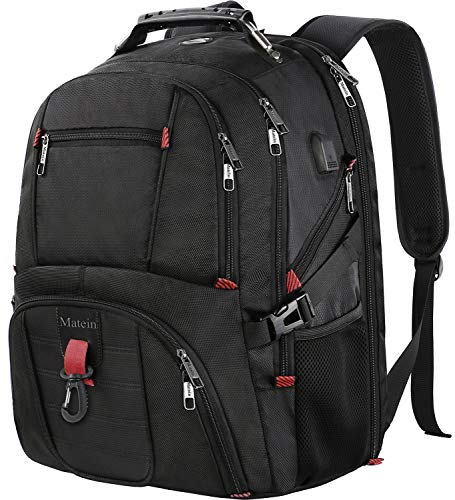 Outdoor Backpack, Extra Large Travel Backpack for Men and Women with USB Charging Port, TSA Friendly Business Traveling Computer Bag,Water Resistant College School Bookbag Fits 17 Inch (Medium Laptop Brief)