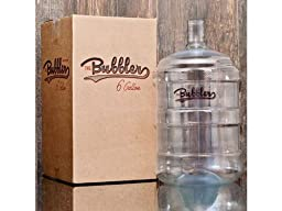 The Bubbler - 6 Gallon PET Plastic Carboy Fermentor for Beer Brewing and Wine Making
