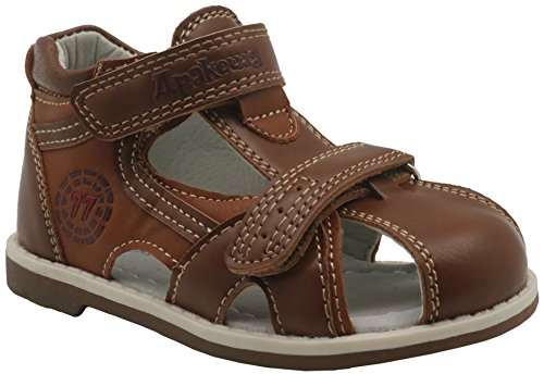 (Apakowa Boy's and Girl's Double Adjustable Strap Closed-Toe Sandals)