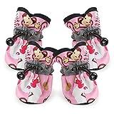 Pet Rain Boot, OOEOO Comfortable Anti-Slip Shoes Puppy Dog Cat Waterproof Pup Socks (Pink, S)