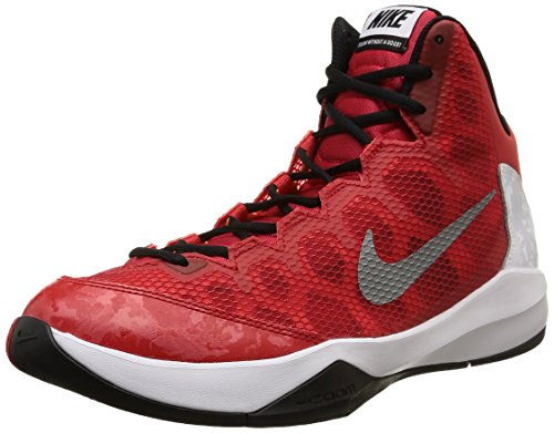 NikeZoom Without A Doubt - Scarpe da Basket Uomo, Rosso (Rot (University Red/Reflective Silver/White/Blue)), 46