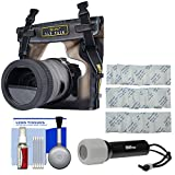 DiCAPac WP-S10 Waterproof Case for DSLR Cameras with LED Torch + Silica Gel + Kit