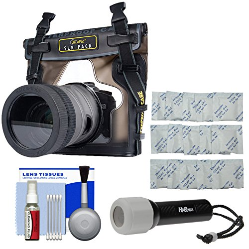 DiCAPac WP-S10 Waterproof Case for DSLR Cameras with LED Torch + Silica Gel + Kit (Dicapac Waterproof Dslr Camera Case Wp S10)