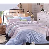 BEIRU Tencel Four Sets Of 100% Lyocell Fiber Simulation Silk Nude Sleep Summer Ice Silk Cool Suite Apply Sheets ZXCV (Color : 6, Size : 220240cm)