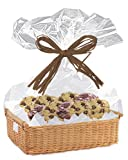 """Clear Cellophane Basket Bags-30""""x 40"""" Cello Bags for Basket, Gifts 12 Pack"""