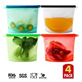 Reusable Silicone Food Storage Bags With Tight Seal Container Versatile For Storing, Cooking, Heating, Freezing - Compatible For Boiling by NuRome