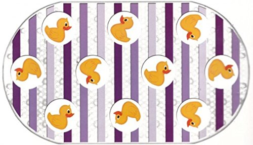 - Rubber Duck Printed Bubble Bathtub Mat - 16