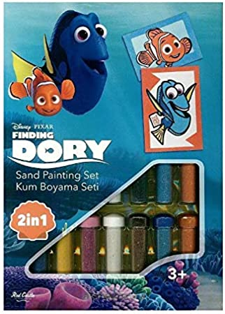 Disney 8699296255410 Ds 25 Dory Sand Painting Sand Painting Card 2 In 1 Set Multi Coloured Amazon Co Uk Toys Games