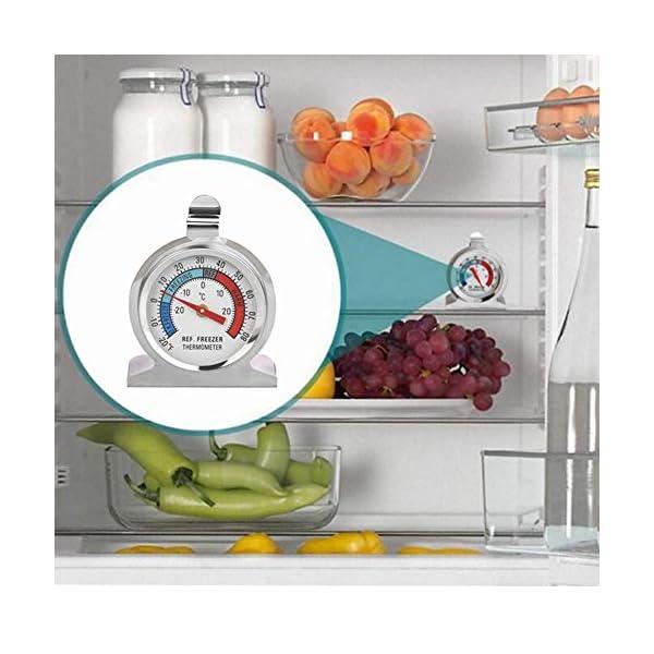 Thlevel Termometro da Frigo in Acciaio INOX Termometro per Congelatore e Frigorifero con Gancio per Appendere per Casa… 7