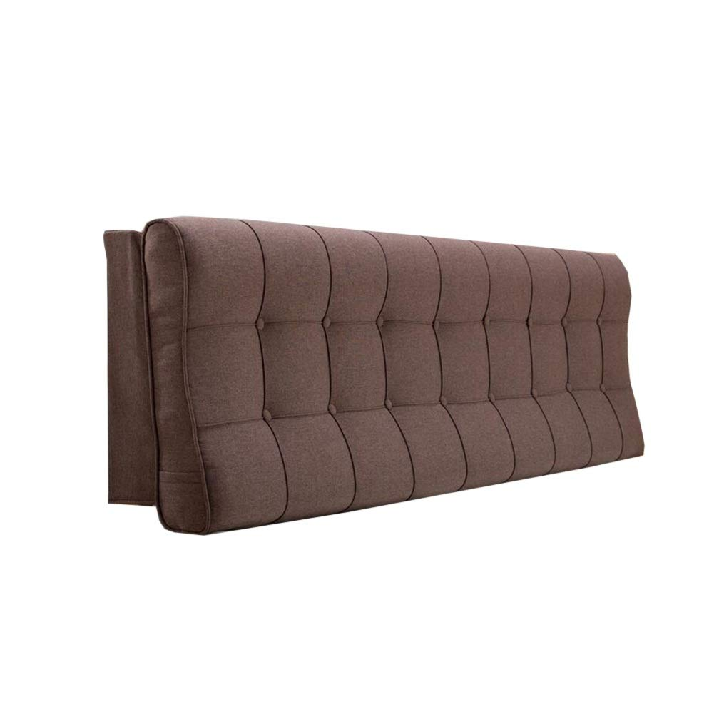 ベッドサイドクッションスポンジいっぱい寝室ダブル特大読書枕背もたれを掃除することができます (色 : Brown, サイズ さいず : 1.2M) B07P81MN8X Brown 1.6M 1.6M|Brown