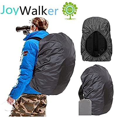 Joy Walker Waterproof Backpack Rain Cover for (15-90L), 2019 Upgraded Anti-Slip Cross Buckle Straps, Triple Strengthened Layers for Hiking Camping Traveling Cycling