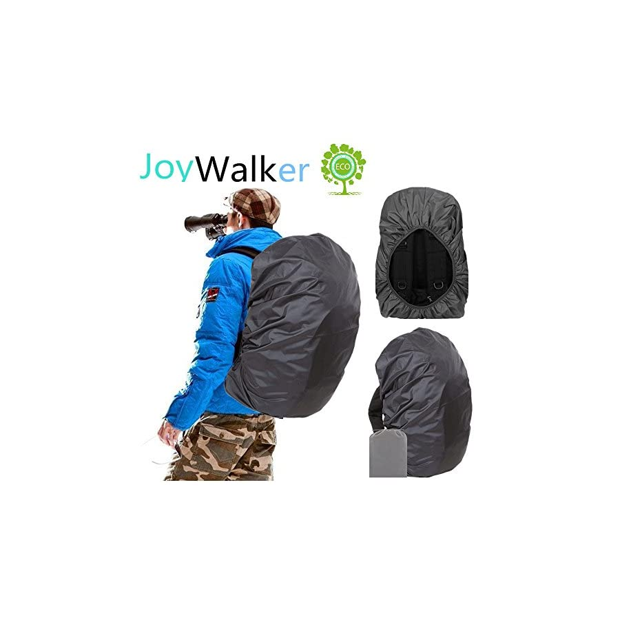 Joy Walker Waterproof Backpack Rain Cover for (15 90L), Upgraded (Anti Slip) Buckle Strap & Strengthened Layer for Hiking Camping Traveling Cycling
