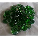 100g(app 23)Glass Pebbles Dark Green 20mm by SOOTHING IDEAS®