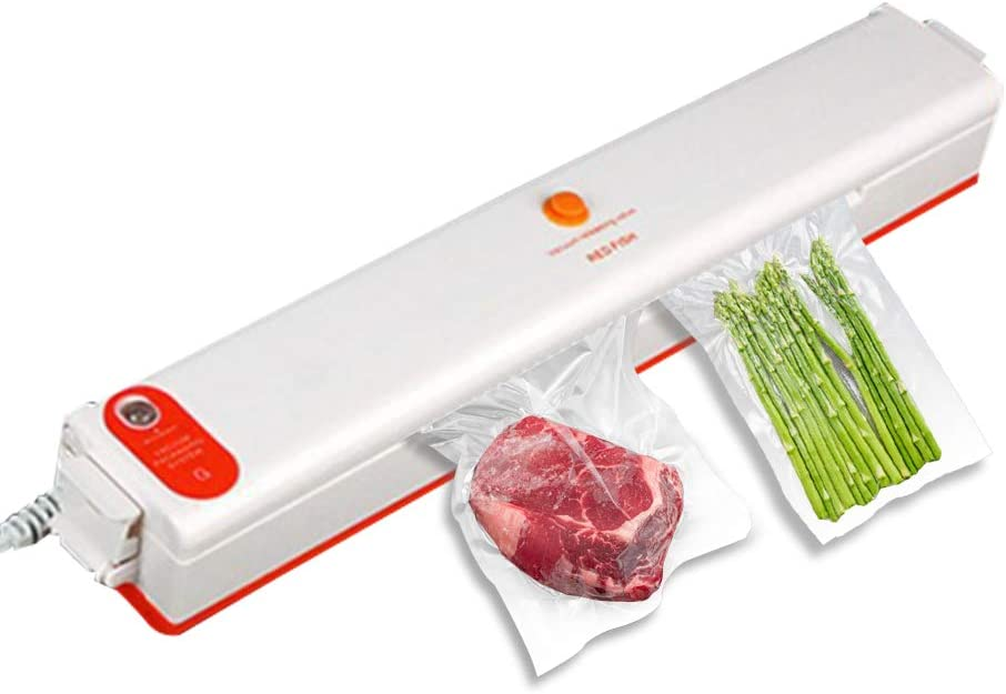 Grashal Vacuum Sealer Machine, Automatic Food Sealer for Food Savers Air Sealing System for Food Preservation,Food Sealer Vacuum with Led Indicator Light Compact Design with 10 Sealing Bags