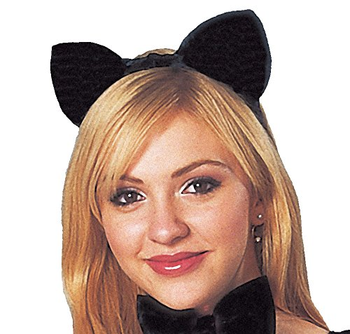 Costume Culture Women's Cat Ears Deluxe, Black, One -