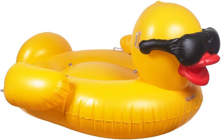 GAME 56501-BB Premium Inflatable-Tuff Duck, Giant, Yellow