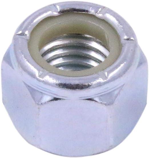 "5//8/""-18 Grade 8 Yellow Zinc Finish Carbon Steel Nylon Insert Lock Nut 10 pk."