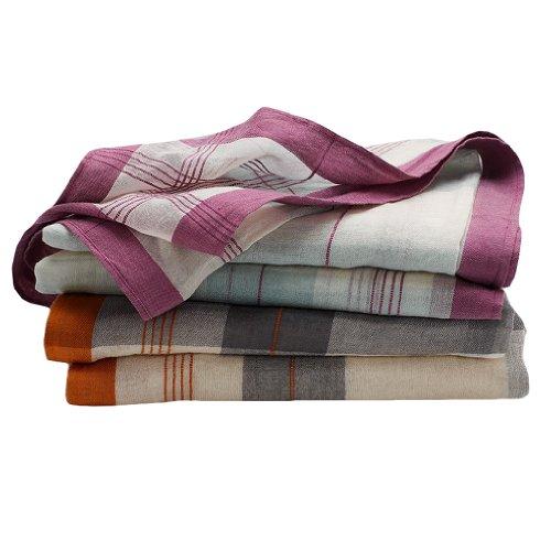 Coyuchi Organic Cotton Muslin Swaddling Blankets - Set of 2 in Plaid...