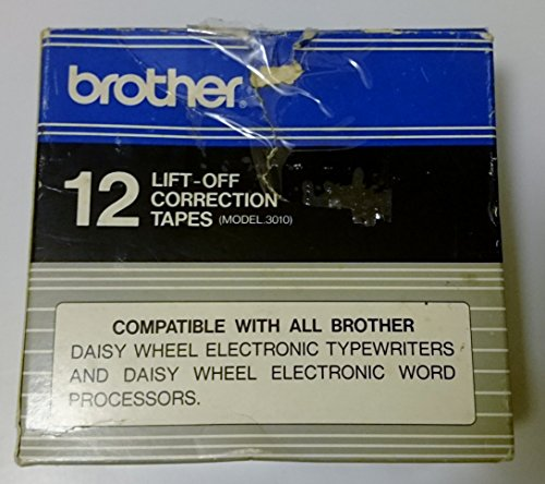 Brother Model 3010 Lift-Off Tapes, Pack Of 12 by Brother (Image #1)