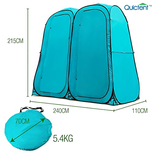 Quictent 2-Room Pop Up Automatic Rod Bracket Shower Tent/Changing/Toilet Room Shelter Outdoor...