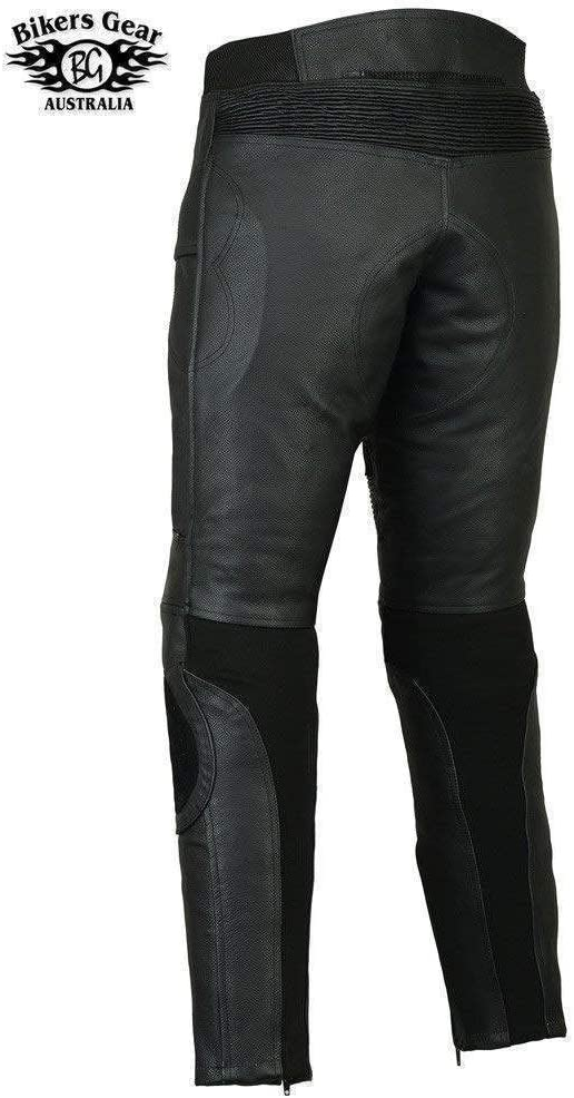 Bikers Gear Australia Mens Premium Race Leather Motorcycle Sports Trousers Pants with Removable CE1621-1 Armour UK 38R EU 48R 2XL