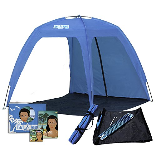Large Open Beach Tent Cabana, 5x5 Anti UV Sun Shelter Canopy Neptune: Shade the Whole Family! Easy Up Party, Sports & Events Gazebo for Park, Garden, Patio & More, Quick Outdoor Awning for 6 People (Gazebo Open)