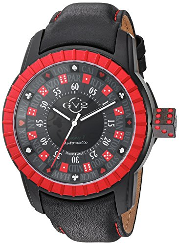 GV2-by-Gevril-Mens-Lucky-7-Automatic-Stainless-Steel-and-Leather-Casual-Watch-ColorBlack-Model-9306