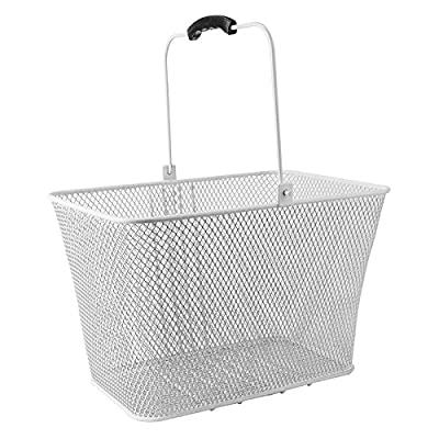 SUNLITE DLX Mesh Lift-Off Front Basket w/Bracket, White : Bike Baskets : Sports & Outdoors