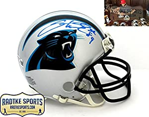Steve Smith Sr Autographed/Signed Carolina Panthers Riddell NFL Mini Helmet