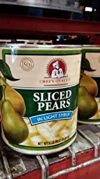 Chef\'s Quality: Sliced Pears 106 Oz. (6 Pack Case)