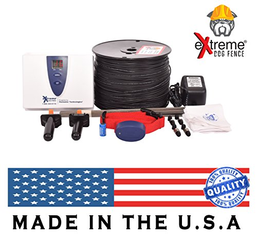 Electric Dog Fence Premium Underground Dog Fence System for Easy Setup and Superior Longevity and Continued Reliable Pet Safety - 1 Dog | 500 Feet Standard Dog Fence (Dog Electric Fence Systems)