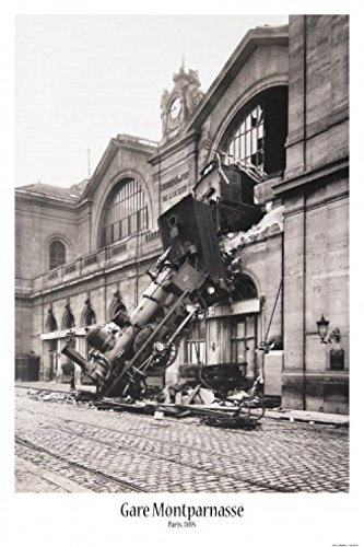 Station Train Set (1art1® Set: Trains, Train Wreck At Montparnasse Station, Paris, France, 1895 Poster (36x24 inches) And 1 x Collection Poster)