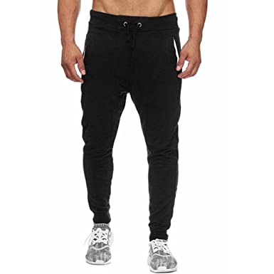 db9e5ece66264e Allywit Mens Joggers Pants - Casual Gym Fitness Trousers Comfortable  Tracksuit Slim Fit Bottoms Sweatpants with
