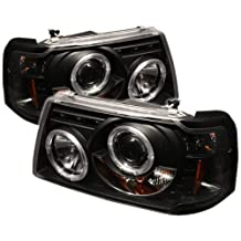 Spyder Auto PRO-YD-FR01-1PC-HL-BK Ford Ranger Black Halo LED Projector Headlight with Replaceable LEDs