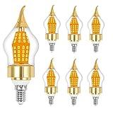 15-Watt LED Candelabra Bulb, Base E12, Warm White 3000K, LED Candle Bulbs, 120 Watt Light Bulbs Equivalent Incandescent,Non-dimmable,Super Bright 1650 Lumens LED Lights, Chandelier - 6 Pack