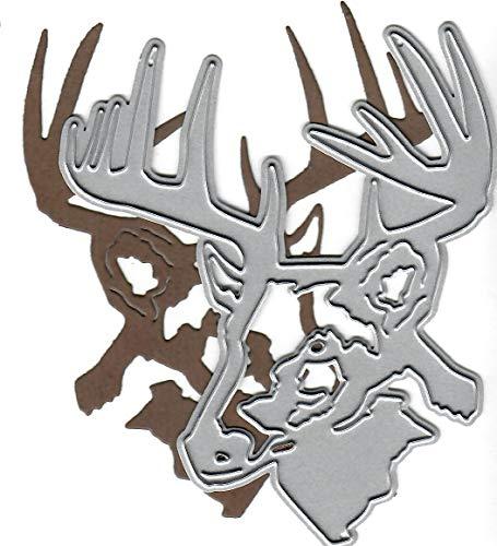Dies to die for Metal Craft Cutting die - Deer/Buck Head - Outdoors Collection