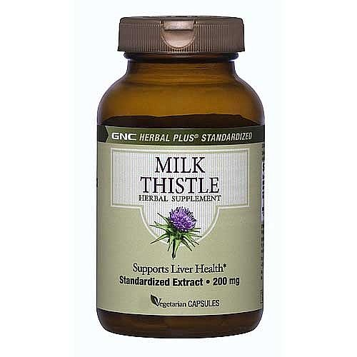 GNC Thistle Herbal Milk Plus, 200 mg, capsules végétariennes, 300 ch