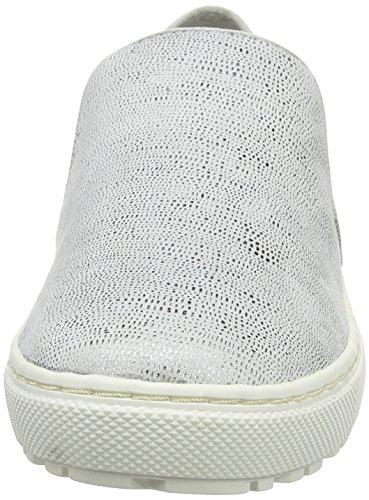 Jana Damen 24623 Slipper, Weiß (White Met Stru 193), 40 EU