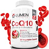 CoQ10 200mg - Pure Coenzyme Q10 Ubiquinone Capsules - High Absorption Natural Supplement for Heart Health - Promotes Cellular Energy to Fight Fatigue & Support Healthy Blood Pressure (30 Count)