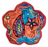 Hand-Painted Paisley Ceramic Petal Bowl, Set of 2 - 5''Dx1.25''H, 5 OZ - Paisley