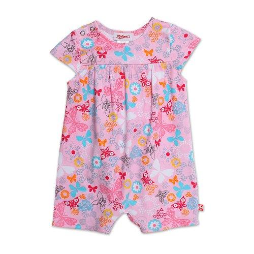 Zutano Baby-Girls Dream Cap Sleeve Romper, Blush, Newborn
