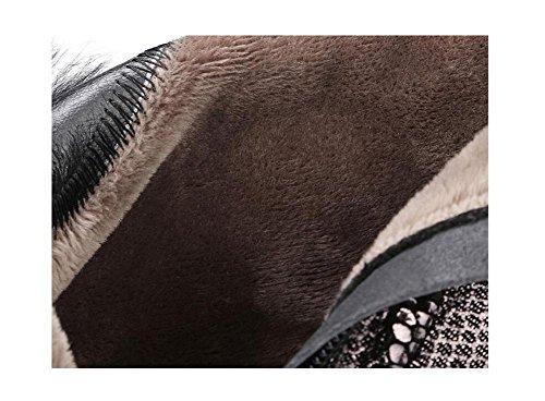 Spessore tacchi e addensare Bootie cotone sottile cachemire caldi stivali di pelle di pecora in pelle corto femminile , 38