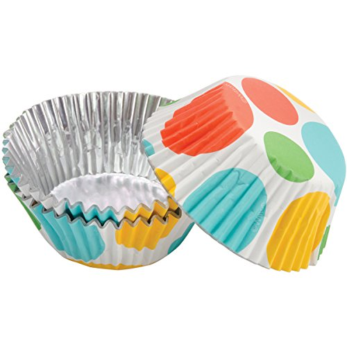 Wilton ColorCups 415-0485 Large Dots Standard Baking Cups, 36 Count