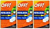 OFF! Lamp / Lantern Powerpad Refills - Patio & Deck Mosquito Repellent - 3 Refills Per Package - Pack of 3