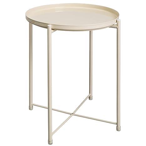 amazon com hollyhome folding tray metal end table sofa table small rh amazon com