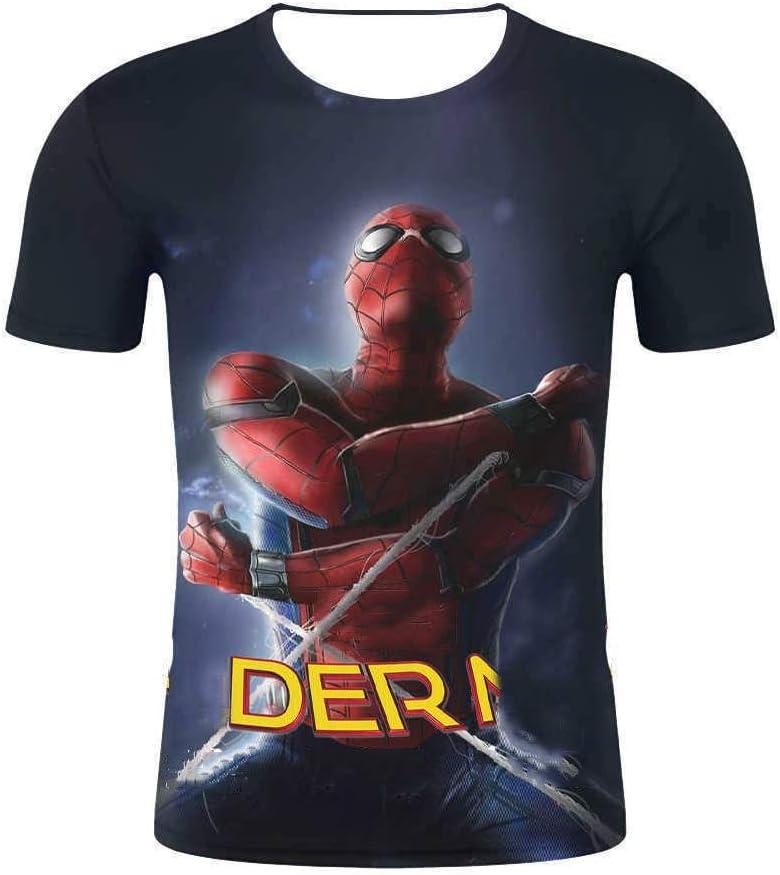 JUFENG Compresión De Deporte De Los Hombres del Hombre Araña Camisa Apretada Capas Entrenamiento del Entrenamiento De Base 3D Superhero Camiseta,E5-XXXL: Amazon.es: Hogar
